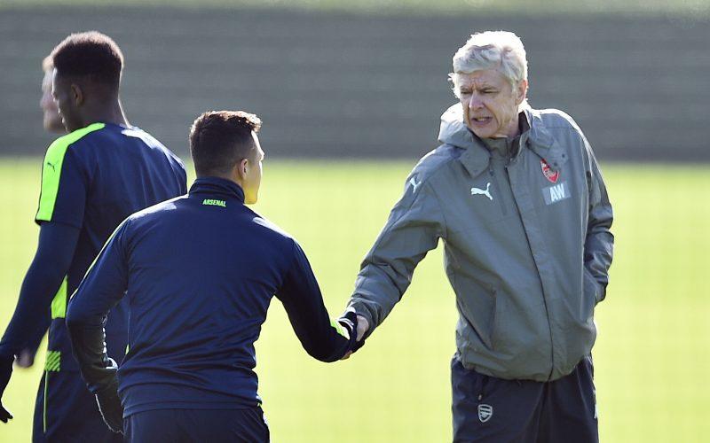 Arsene Wenger dan Alexis Sanchez